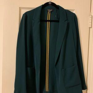 Women's Topshop Dark Green Blazer